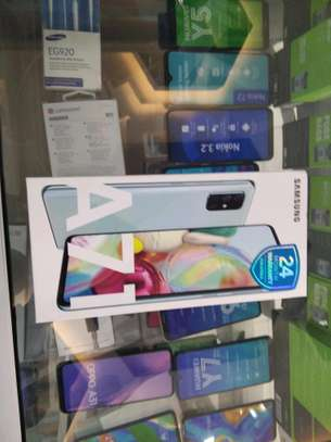 Samsung Galaxy A71 brand new and sealed in a shop.
