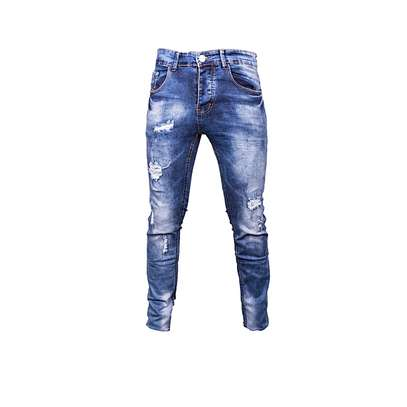 Blue Rugged Jeans image 1