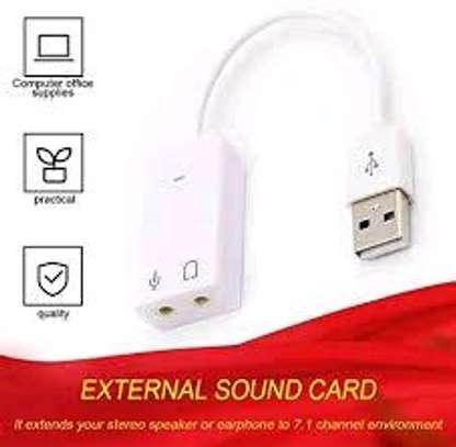 Generic 7.1 External USB Sound Card To Jack 3.5mm Headphone Digital Audio Adapter Black image 5