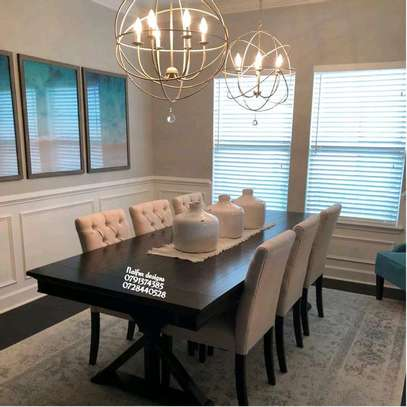 Modern dining tables for sale in Nairobi Kenya/six seater dining table/dining sets image 1