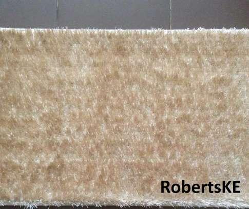 fluffy cream  carpet image 1