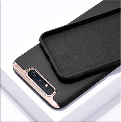 Silicone case with Soft Touch for Samsung A80 image 5
