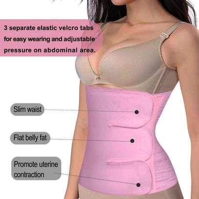 Fashion Private Label Abdominal Compression Wrap Belly Band Postpartum Recovery Waist Trainer Belt image 2
