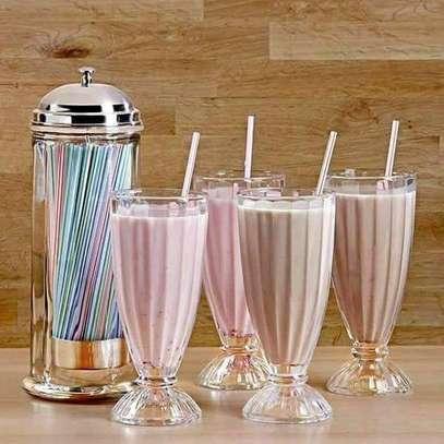 Acrylic smoothie glasses image 1