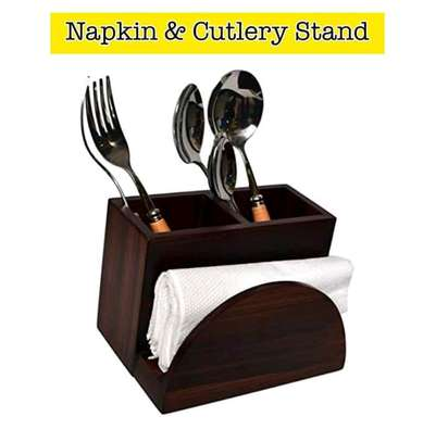 KVG wooden Napkin and cutlery stand image 2