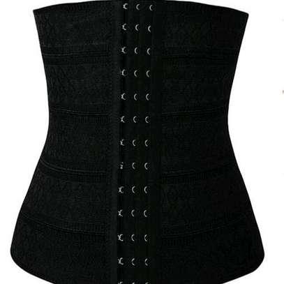Fashion High Waist Trainer BodyShaper Sliming Belly Belt-Black image 1