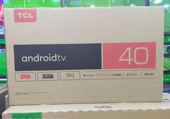 "TCL 40""  Frameless smart Android TV image 1"
