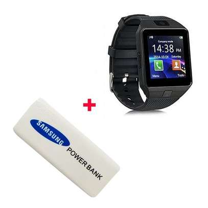 Generic DZ09 Smart Watch Phone for Android and Apple With Free Power Bank 5600mAh - Black image 1