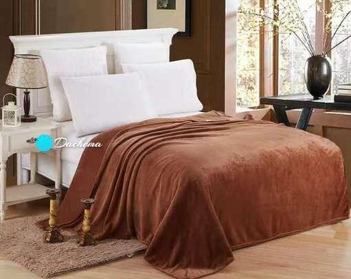 brown fleece blankets image 1