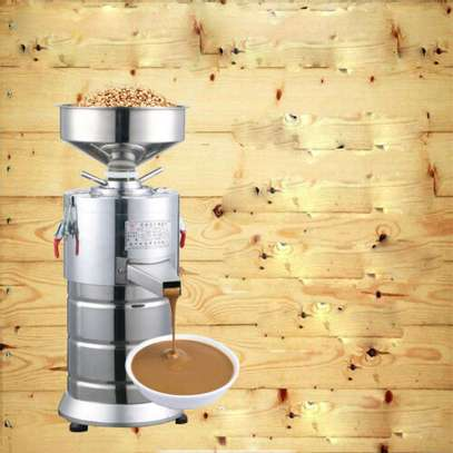 New 220V 1100W Electric Commercial Peanut Butter Sesame Grinding Machine 15kg/h image 3