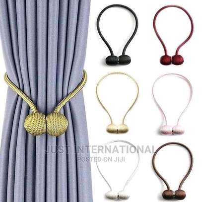 Magnetic curtain holders image 3