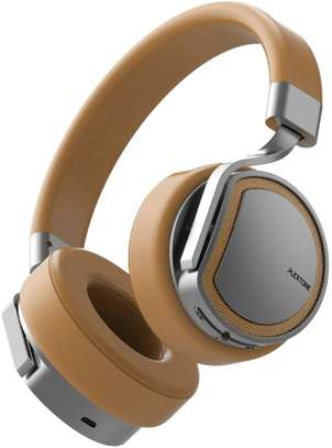 Plextone BT270 smart compatible wireless + wired switching stereo headphone- Golden image 1