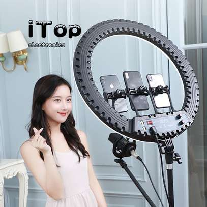21 inches led ring light with tripod stands image 1