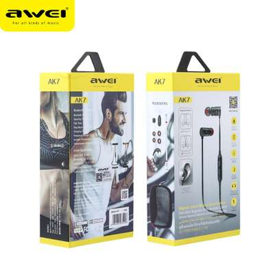 Awei AK7 Water-proof Magnetic Adsorption Wireless Bluetooth Earphones image 4