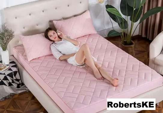 water proof mattress protector pink image 1