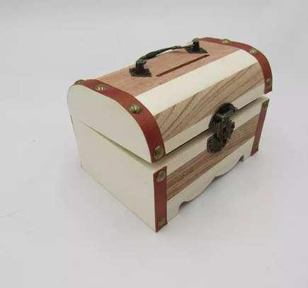 PIGGY BANKS - WOODEN MONEY BOX image 1