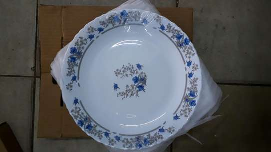 6pc square dinner plate/Round dinner plate/Glass plate/Flowered plates image 12
