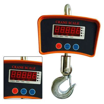 Hanging Scale, 1100Lb/500Kg Industrial Crane Hoist Scale LCD Digital Electronic Hook Hanging Weight Scale W/LED Display for Farm image 2