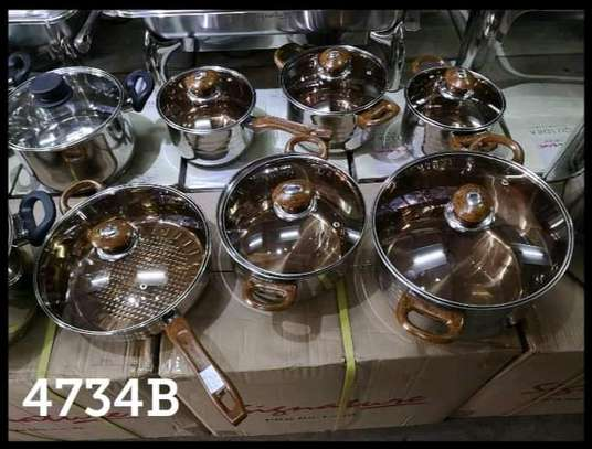 12pcs Signature stainless steel sufuria/cookware set image 1