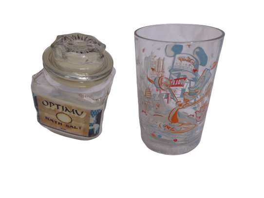 Optimu Bathsalt And A Glass