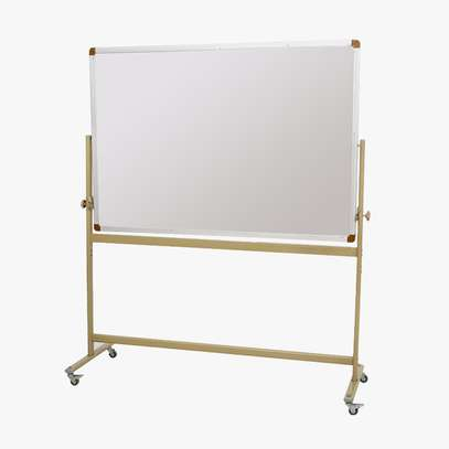 SINGLE SIDED WHITEBOARD WITH CASTOR ROLLS