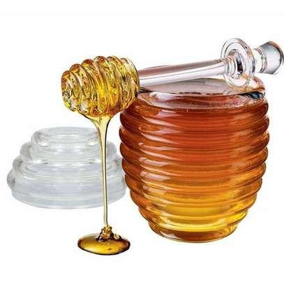 Acrylic honey jar with Dipper image 1