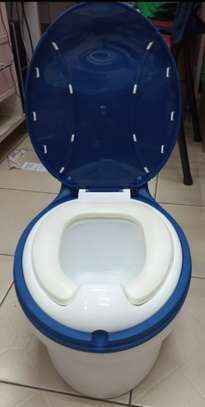 Children Simulation Toilet Infant Pony Bucket Potty Seat with Removable Inner Bucket image 2