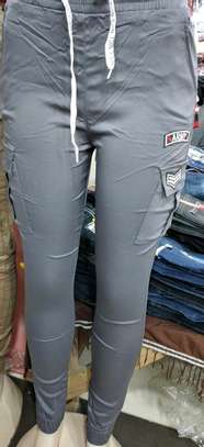 Trousers black, white, green, maroon, gray image 2