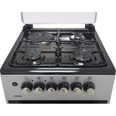 Official Store Mika MST50PU31SL,Standing Cooker, 50cm X 50cm, 3 + 1, Silver image 3