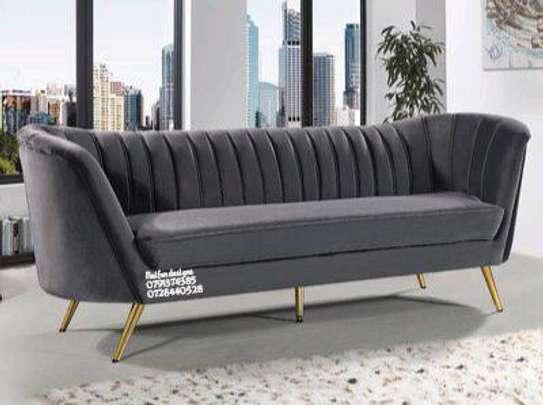 Grey three seater chaise lounge sofas for sale in Nairobi Kenya/modern sofas/three seater sofas designs sale in Nairobi Kenya image 1