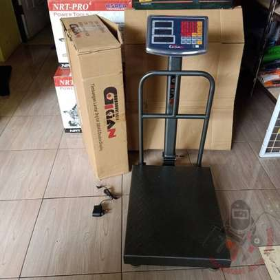 500kg digital balance cas warehouse postal movable dynamic weighing scale for fire extinguisher image 1