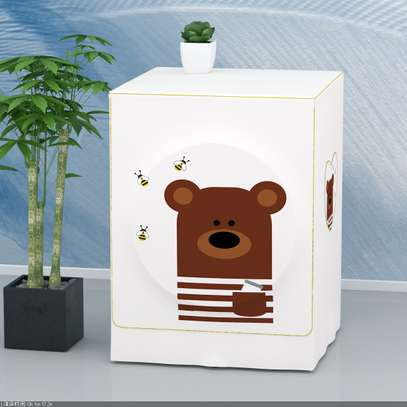 Front Load washing machine cover Bear face image 5