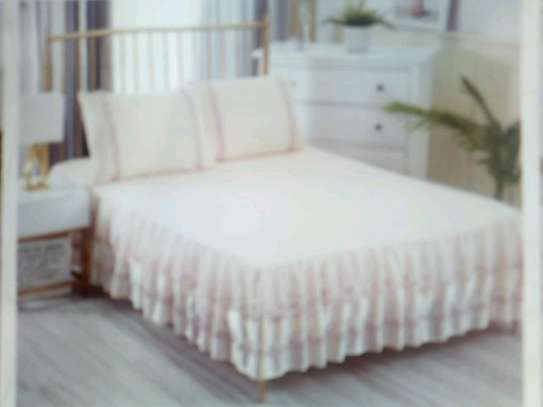 Cotton Bed skirt Bedcover image 4
