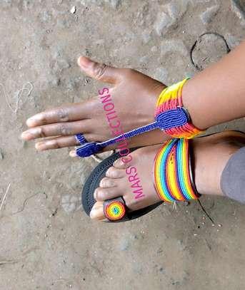 African sandals and bracelet image 1