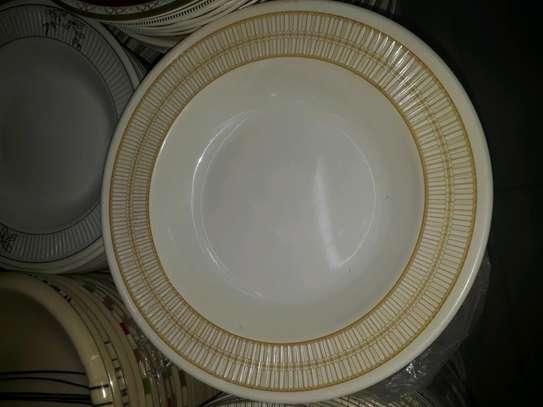 12pc Melamine dinner plates/Extra heavy melamine plate/12pc Plates image 1