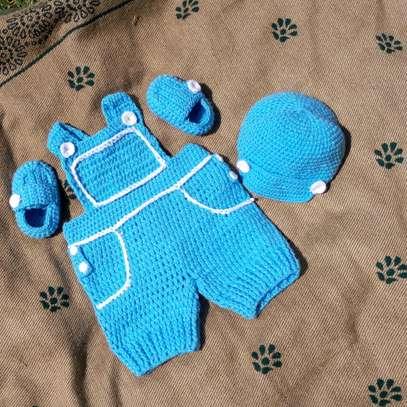 Crocheted dungaree