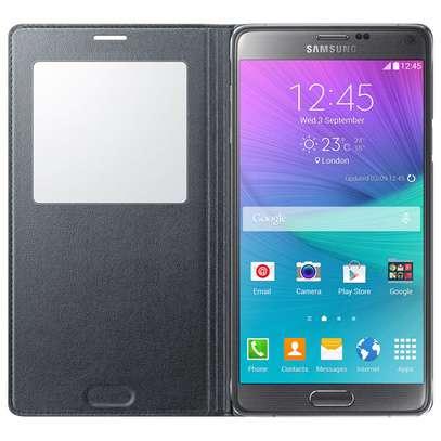 Smart S View Flip Cover Folio Case with Sensor - Samsung  Note 4 Case image 4