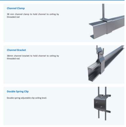 Gypsum ceiling hanging system C and Omega on Sale image 2