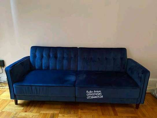 Modern blue three seater sofas for sale in Nairobi Kenya/three seater sofas image 1
