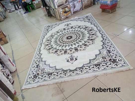 white silk  elegant Persian carpet image 1