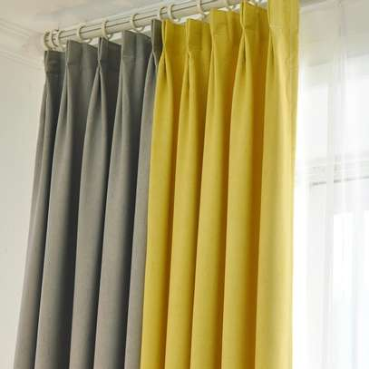 Grey and yellow Themed Curtain image 1