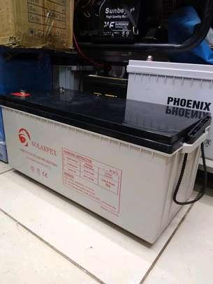 Solarpex 12v 200ah 20hrs Deep Cycle Gel Battery image 1