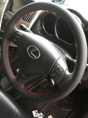 Hand stitched steering wheel cover - non leather image 5