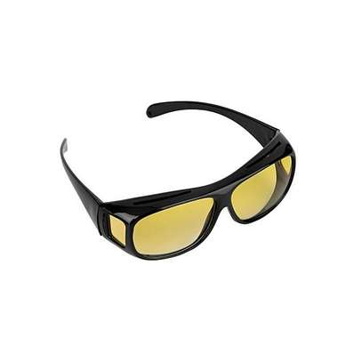 Generic HD Night Vision Driving Glasses - Yellow image 1