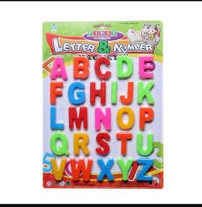 Fridge Magnets Plastic Toys Kids letters image 1