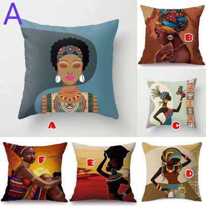 African print throw pillow cases