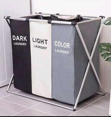 Foldable laundry basket image 1