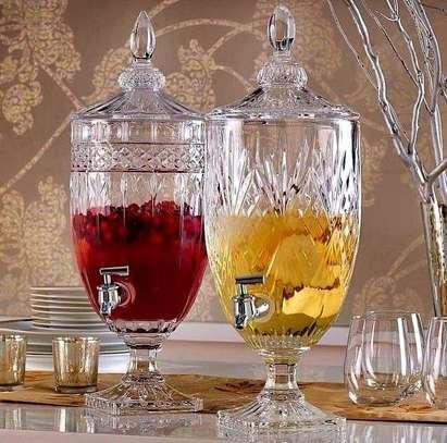Multi-purpose drink dispenser Material heavy glass  Capacity 3ltrs image 1