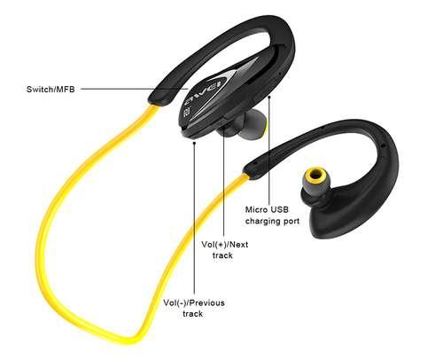 Awei A880BL - Wireless Headphone Sports Earphone Stereo Bluetooth image 3
