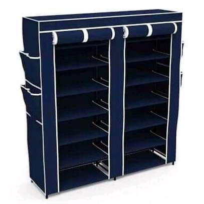 Metallic shoe rack 2 column image 4